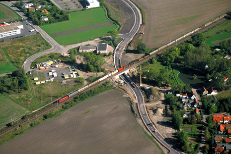 Site of a removed level crossing in Peißen (Foto: DB AG)